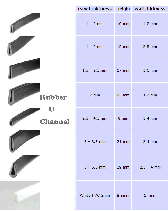 Rubber U Channel Kait Rubber